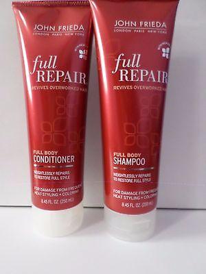 John Frieda Full Repair 1 Shampoo + 1 Conditioner 8.45oz Each Full