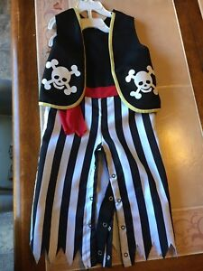 Pirate costume size 18-24 month
