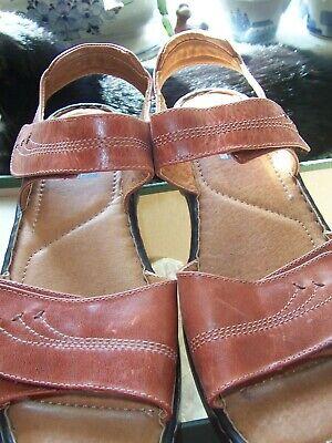 JOSEF SEIBEL ADELLE NEW Ladies  Dark Tan Adjustable Sandals - Size 8/42