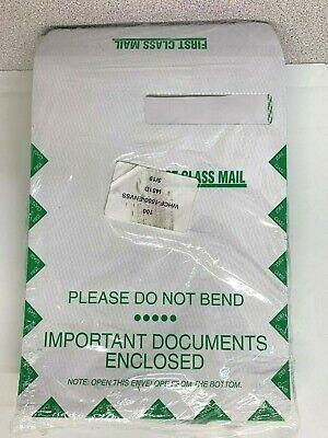 100 Ct. 12.5 x 9 First Class Single Window Do Not Bend Envelopes-WHCF-1500(C-19) First Class Window Envelopes