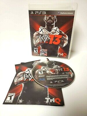 WWE 13 PS3 (PlayStation 3 Game) CIB Complete for sale  Shipping to India