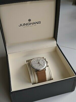 Junghans Max Bill Chronoscope Automatic Chronograph New Never Worn - light beige