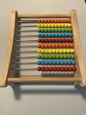 Wooden Abacus Colorful Beads Counting Maths Child Maths Learning Educational Toy