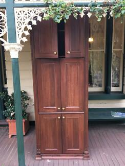 Victorian style cupboard for beside fireplace 2.4metres tall x 90