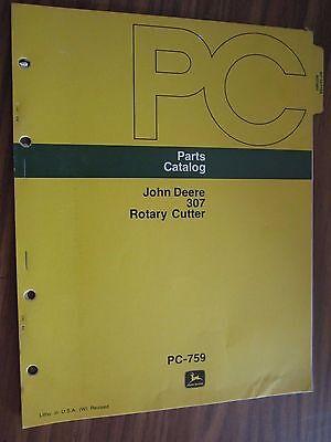 John Deere 307 Rotary Cutter Mower Parts Catalog Manual