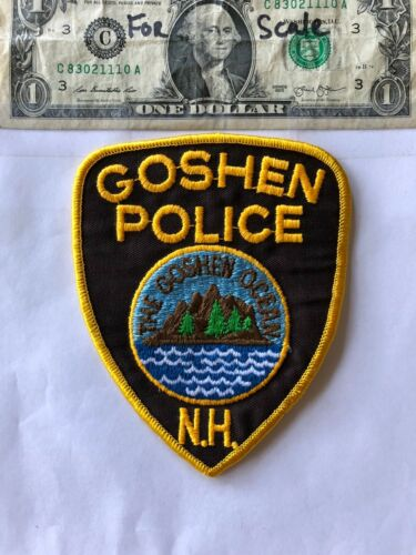 Goshen New Hampshire Police Patch un-sewn in great shape