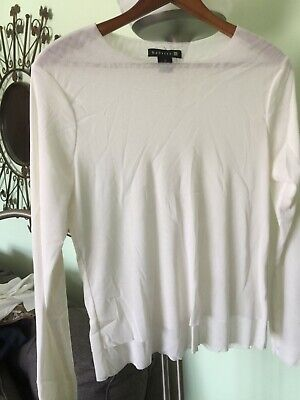 Babette of San Francisco, Creamy  White Sheer Blouse, Size 3 for sale  New York