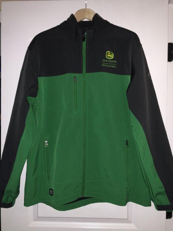 John Deere Mens XL Green Black Gray Dri Duck Jacket Coat DDX Paint Operations