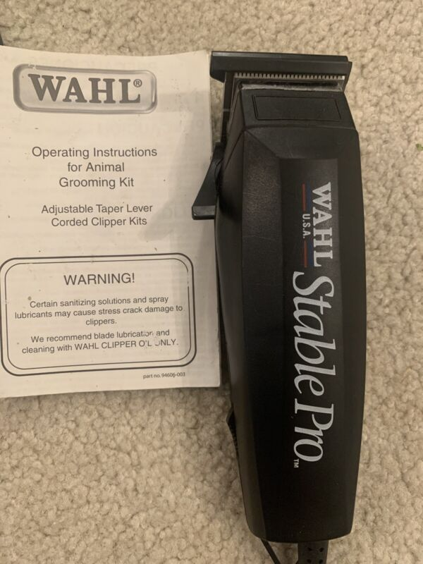 WAHL Stable Pro Adjustable Blade HORSE Equine CLIPPERS~16