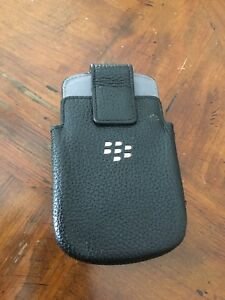 Leather phone holster with belt clip blackberry