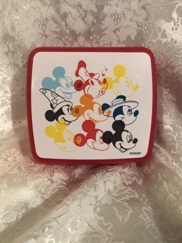 Tupperware Disney Mickey Mouse Square Sandwich Keeper Brand New, Free Ship