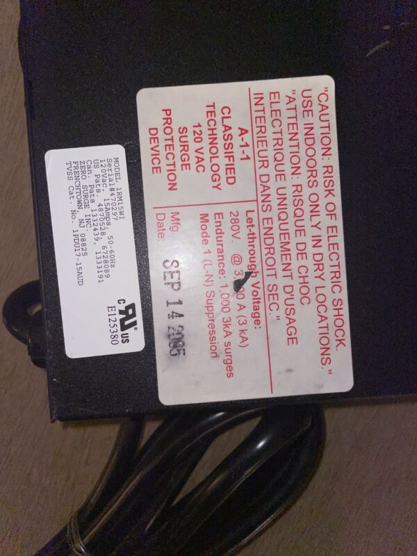 New out-of-the-box zero surge Rack Mount Industrial SurgeProtector Normally $400