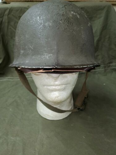 WWII Front Seam Fixed Bale Helmet with Inland Liner