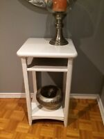 Solid wood hall or accent table