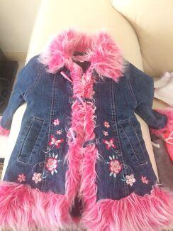 Girls Sz 2 winter clothing bulk lot coat jumpers tops