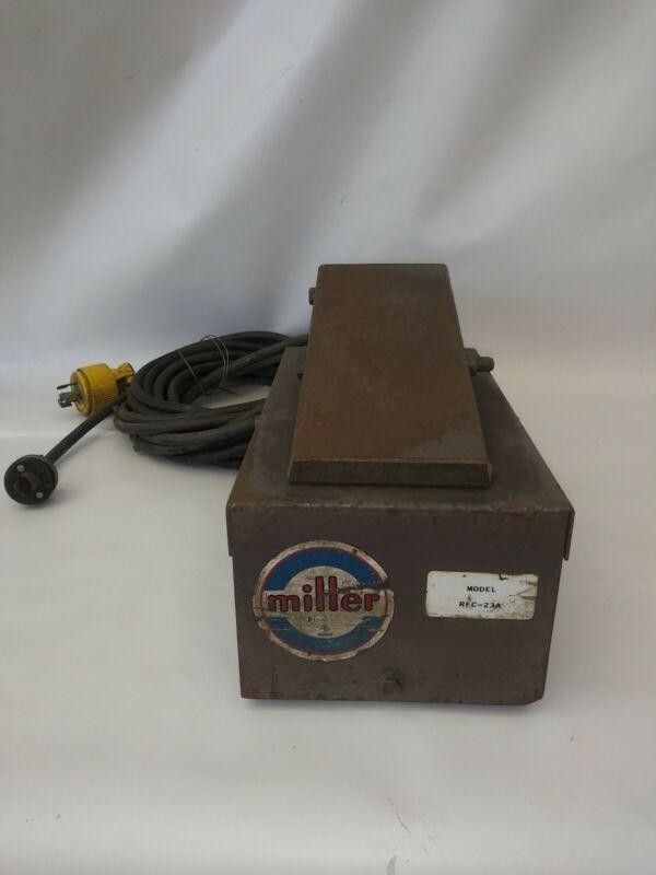 Miller MODEL RFC-23A Remote Foot Control Pedal