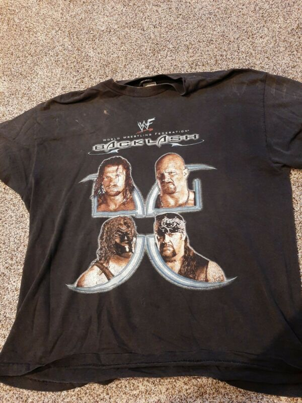 WWF WWE 2001 Backlash Pay Per View Shirt XL Ppv Used Stone Cold Undertaker