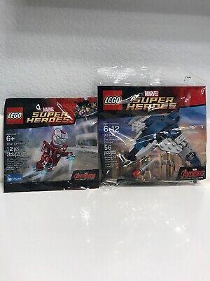 LOT OF 2 Lego Marvel Super Heroes Silver Centurion + Lego Avengers Quinjet