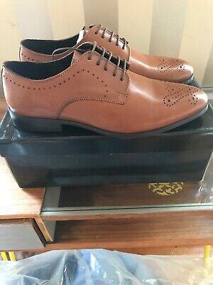 BURTON Menswear Tan Leather ROSEHALL  Lace Up Shoes, Size Uk 9 / EU 43 BNIB