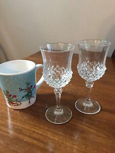FREE: Crystal wine glasses