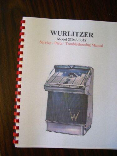 Wurlitzer Model 2304 Jukebox Manual