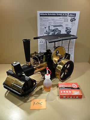 Dampfmaschine Dampfwalze Old Smoky Wilesco D366 Schwarz/Messing