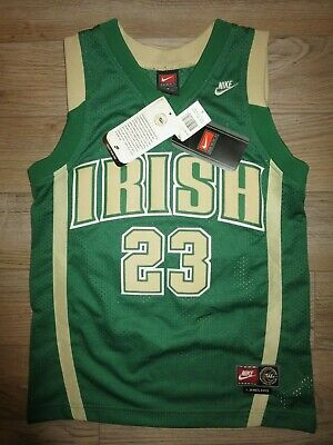 LeBron James #23 St. Vincent st. marys Irish Nike Tag+ Jersey Youth SM 6-8 NEW