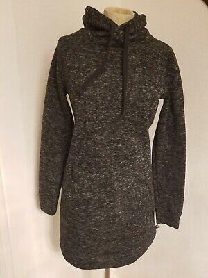 Fabletics Yukon Sweatshirt Dress SZ S Hooded Pocket Gray Womens