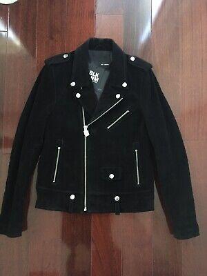 BLK DNM Suede Leather Biker Jacket - Size M - Saint Laurent Style