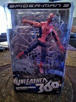 "Hasbro Spider-Man 3 Unleashed 360 Red & Blue Spider Man 8"" Action Figure Marvel"
