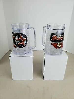 2 Two Houston Astros 16 Ounce Insulated Freezer Mug New in Box