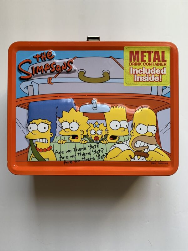 The Simpsons Tin LunchBox With Thermos New Original 2001