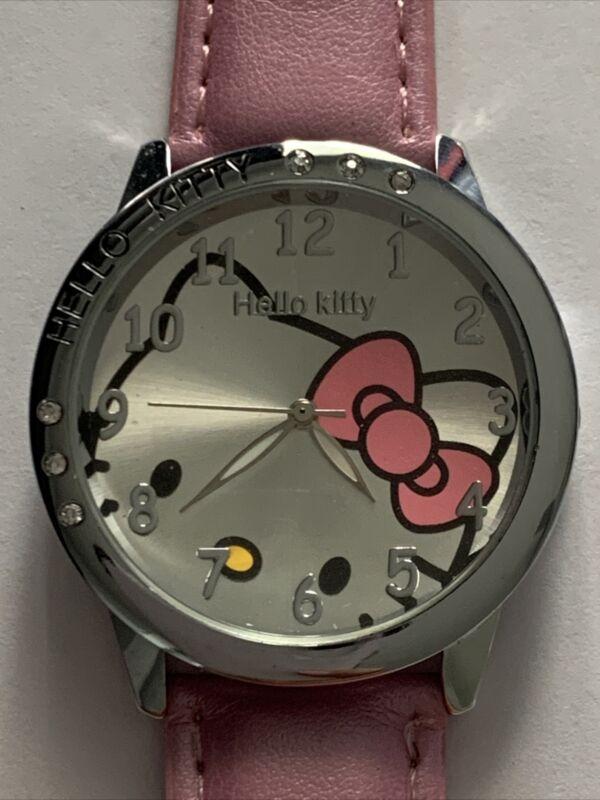 Hello Kitty Fashion Watch.  Super Cute!  New Battery!  Pink Band.