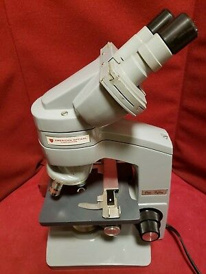 American Optical One-fifty Microscope W Plan Achro And Spencer Objectives -8428