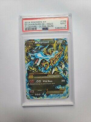 Pokemon PSA 9 M Charizard EX 108/106 Flashfire 2014 Mint Secret Rare Card