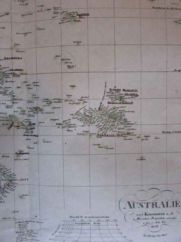 Australia prominent hooked Lake Torrens Oceania 1847 Stulpnagel Stieler map