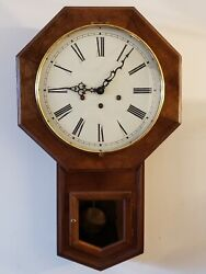 Bartlett's Heritage Clock Co. NH Regulator Wind-Up Westminster Chime Wall Clock