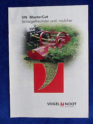 VN Vogel & Noot MasterCut Schlegelhäcksler & -mulcher - Prospekt Brochure  (0826