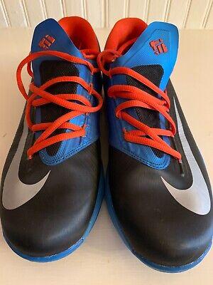 Nike KD VI youth basketball shoes OKC Thunder black/orange/blue size 7Y