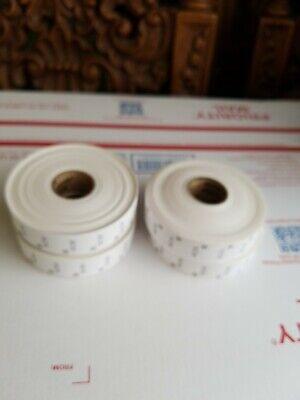 4 Rolls Total Paxar Monarch 1130 Series Senso White Labels For Label Gun 1135