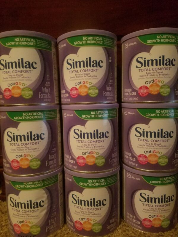 9 cans of Similac Total Comfort
