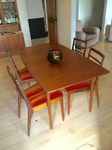 McIntosh Retro Mid Century Extendable Dining Table and 4 Chairs Healesville Yarra Ranges Preview