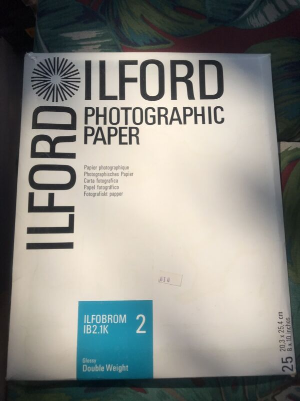 Ilford Photo Paper Ilfobrom Ib2.1K Glossy Double Weight 25- 8x10 Sheets *NOS*