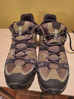 Salomon Hiking Trail Shoes Men's Size 10.5 Olive Green Black Contagrip