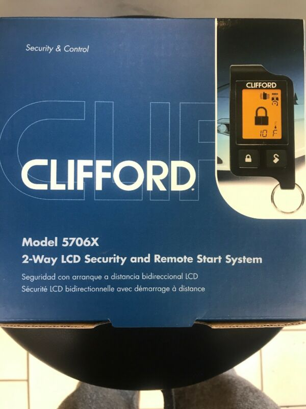 Clifford 5706 X Car Remote Start & Alarm Long Range 2-Way Pager Remote & 1 Way