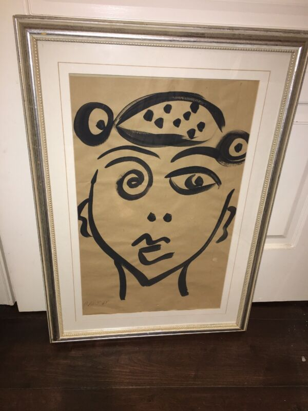 Peter Keil Original Abstract Painting COA Early Picasso Cubist