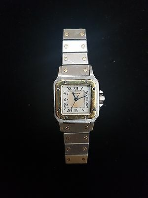 Cartier Santos de Cartier 18K Gold & Stainless Steel Quartz Watch