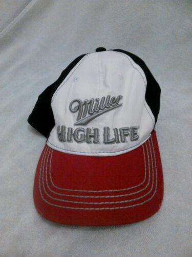 MILLER HIGH LIFE Red White & Black Trucker Baseball Hat