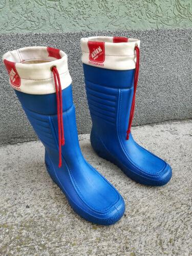 Vintage Blue AKIAK Simod-Italy, Rubber Winter Boots, Made in Yugoslavia