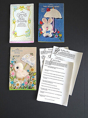 Baby Shower Charades (Vintage Hallmark Baby Shower Games 3 Party Books Crosswords Charades)